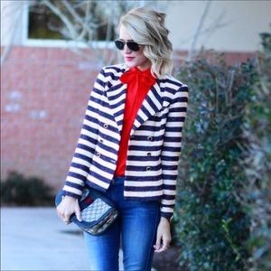 CAbi Love Carol Striped Nautical Blazer Jacket